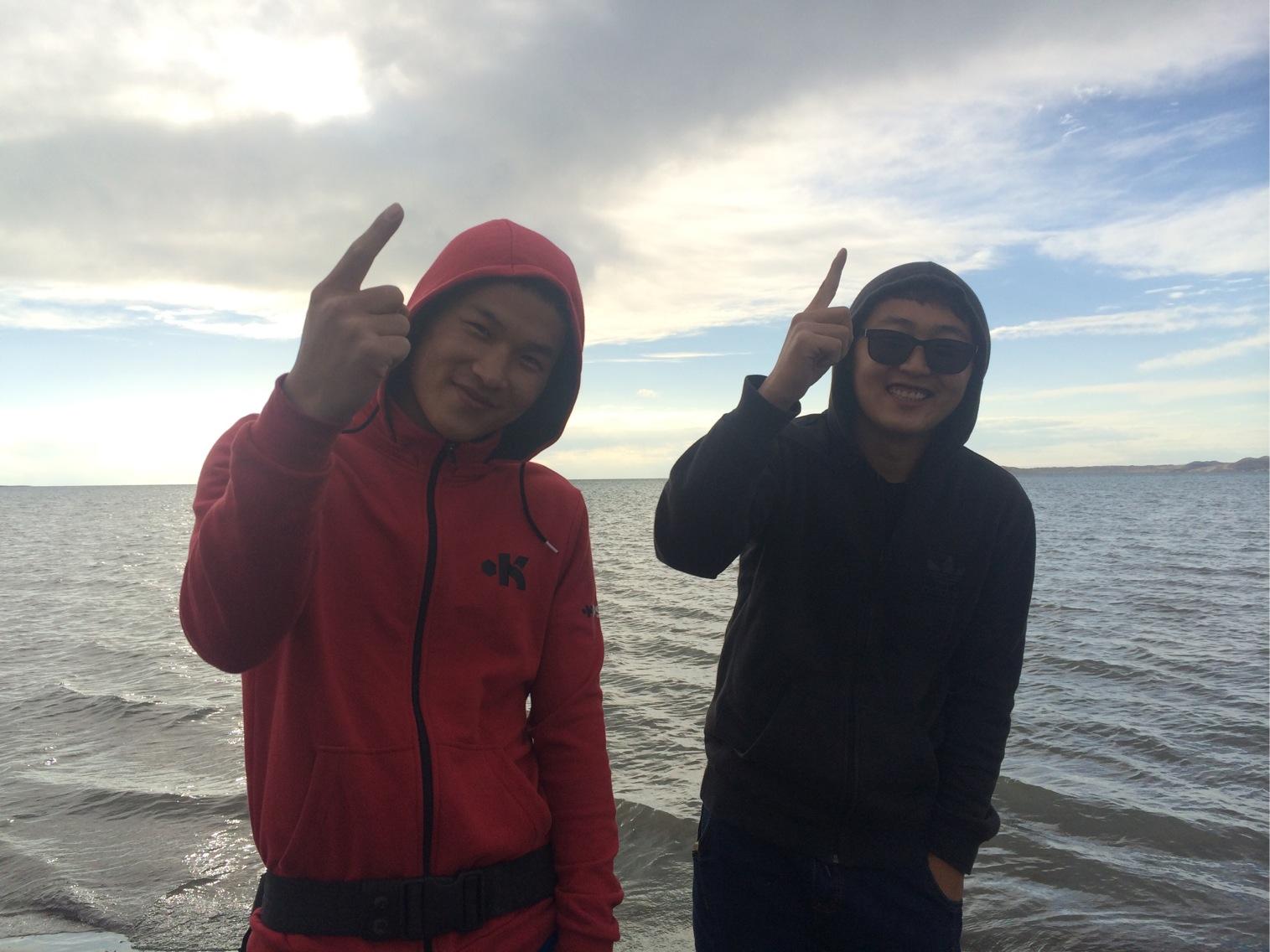 Dachao & Yihzheng, Qinghai Lake, China